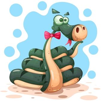 Personajes de serpientes locas