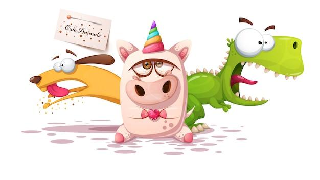 Personajes de dibujos animados de animales