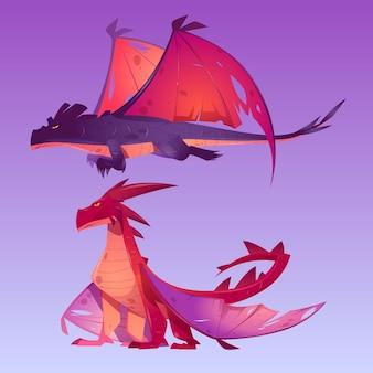 Personajes de dibujos animados de dragones