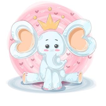 Personajes de dibujos animados de elefante