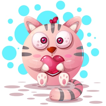 Personajes de dibujos animados gato
