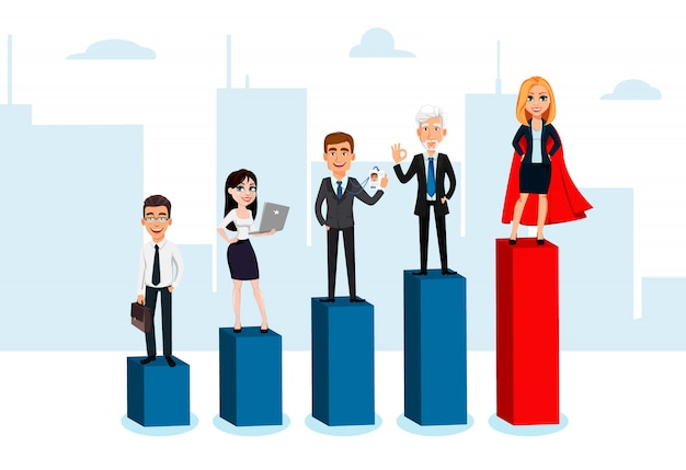 Personajes de dibujos animados de personas de negocios
