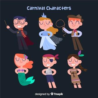 Personajes disfrazados en carnaval