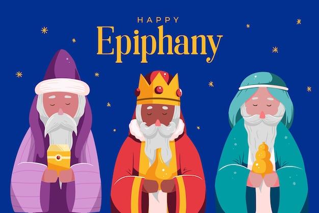 Personajes de epifanía ilustrados dibujados a mano.