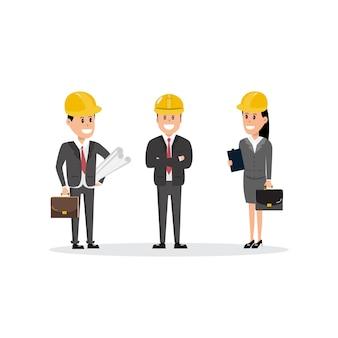 Personajes del equipo de trabajadores de la construcción