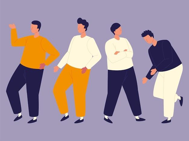 Personajes del grupo de hombres