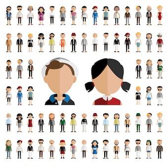 Personajes de hombre y mujer