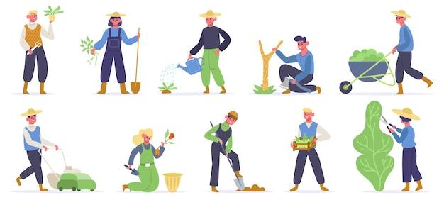 Personajes de jardinería