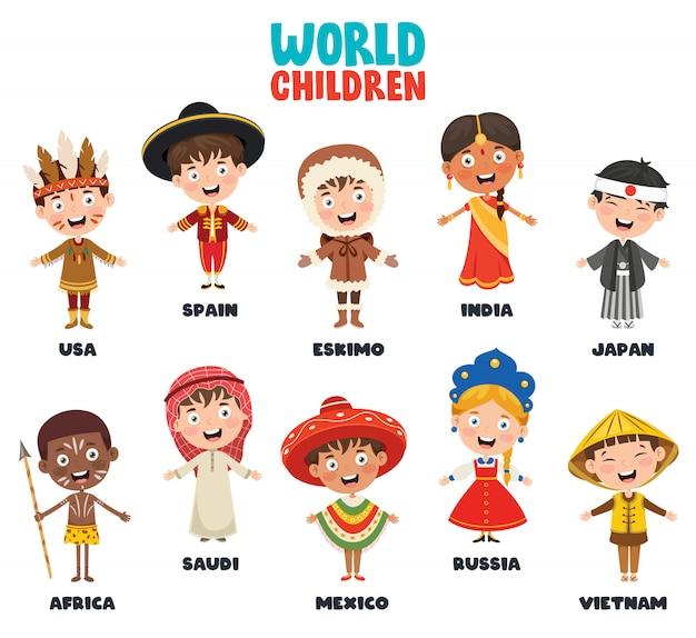 Personajes multiculturales del mundo
