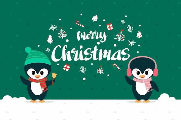 Personajes navideños con letras