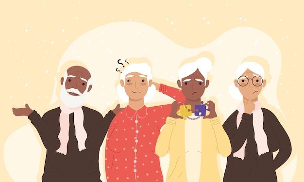 Personajes de pacientes de alzheimer