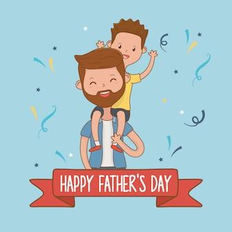Personajes padre e hijo