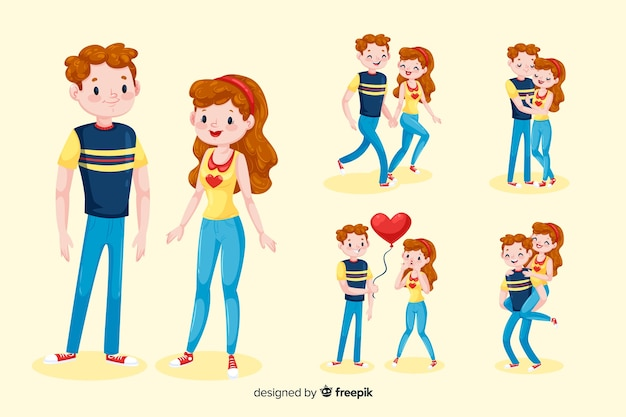 Personajes de parejas en 3d