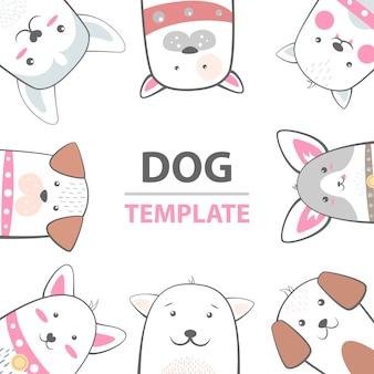 Personajes de perro de dibujos animados