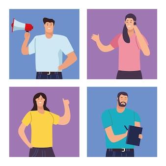 Personajes de personas de negocios personajes de avatares