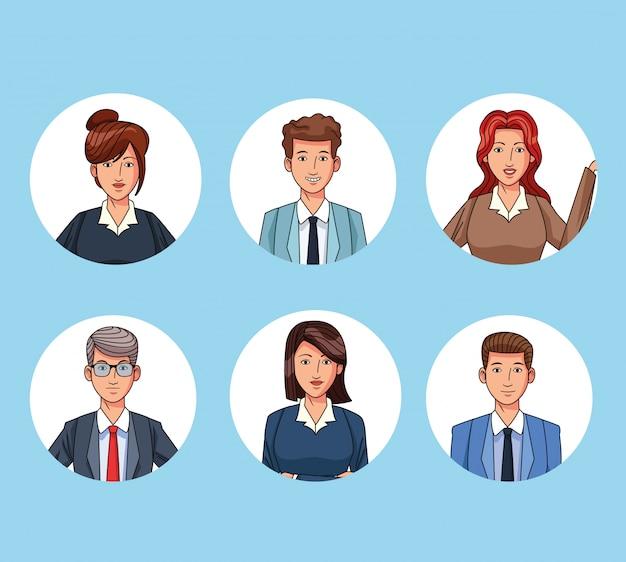 Personajes de personas de negocios