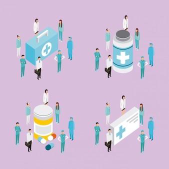 Personajes de salud de personas médicas