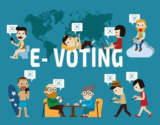 Personajes de votación electrónica