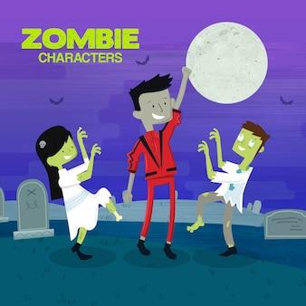 Personajes zombies