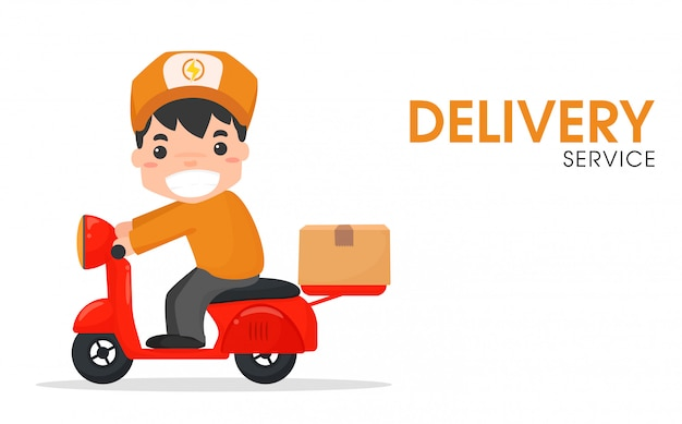 El personal de entrega