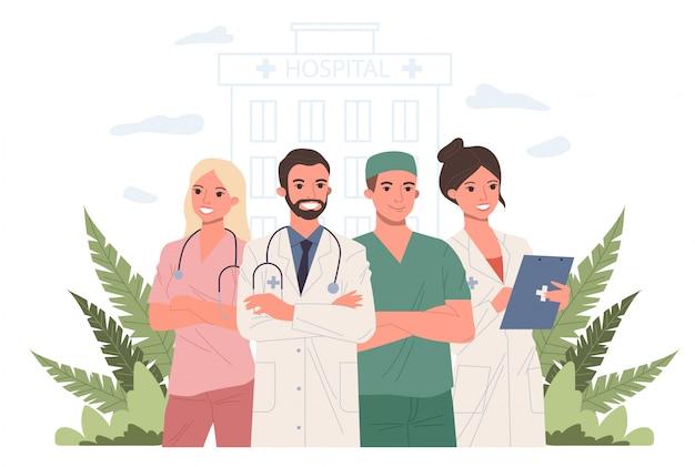 Personal médico del hospital