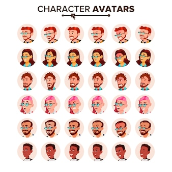Personas avatar set.