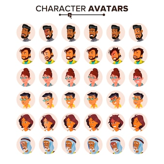 Personas avatar set.