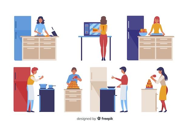 Personas cocinando