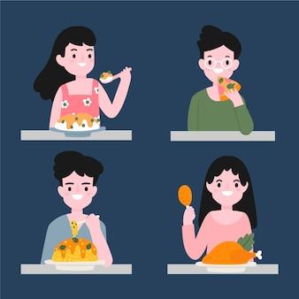 Personas con comida