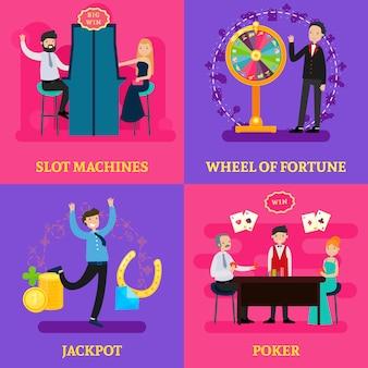 Personas en concepto de plaza casino
