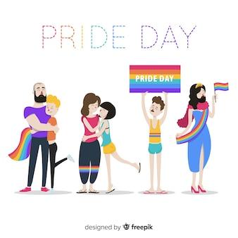 Personas del día del orgullo
