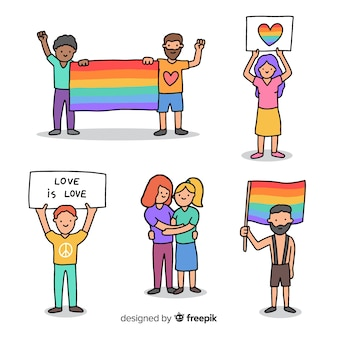 Personas en el día del orgullo
