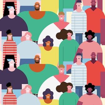 Personas de diferentes culturas