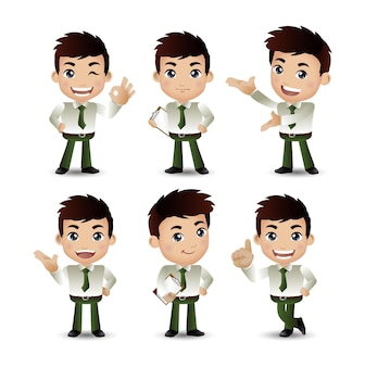 Personas con diferentes poses.