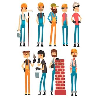 Personas de diferentes profesiones. día laboral. ilustración