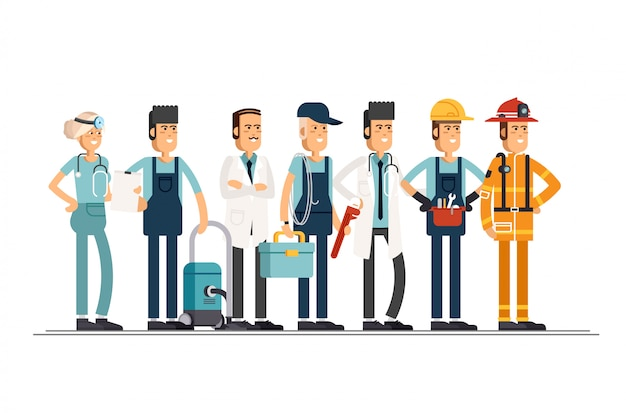 Personas de diferentes profesiones