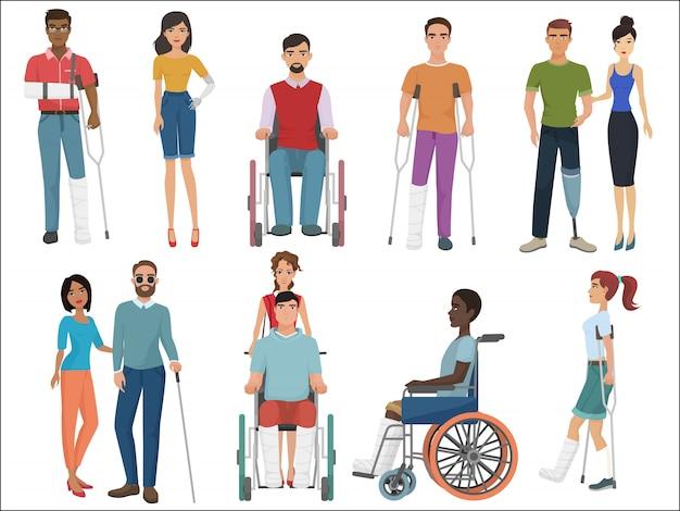 Personas discapacitadas con amigos.