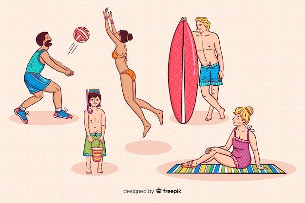 Personas disfrutando del verano
