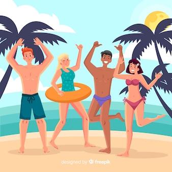 Personas disfrutando el verano