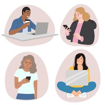 Personas con dispositivos tecnológicos.