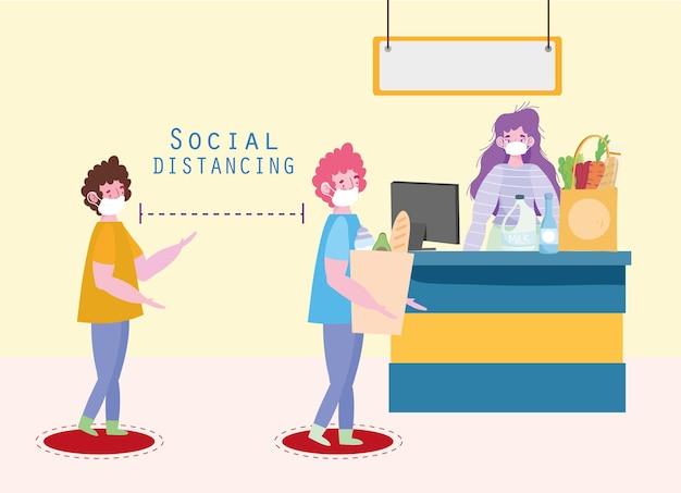 Personas de distanciamiento físico