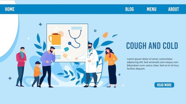 Las personas enfermas necesitan doctor asesorar página de destino diseño