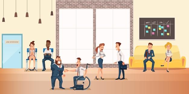 Personas en el espacio de coworking compartido, oficina creativa