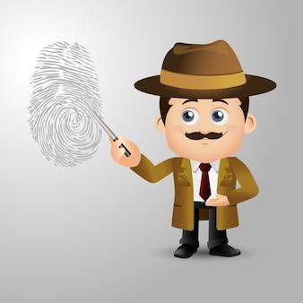 Personas establecer detective de profesión