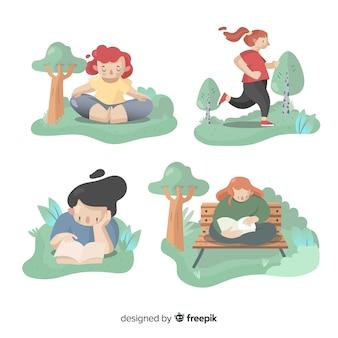 Personas haciendo actividades al aire libre