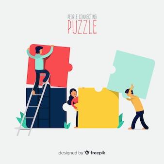 Personas haciendo puzles