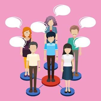 Personas involucradas en un negocio de networking