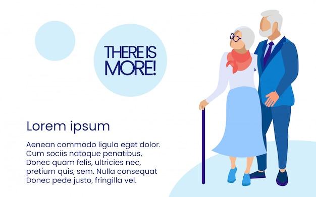 Personas mayores con bastón en blanco.