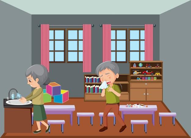 Personas mayores que se quedan en casa