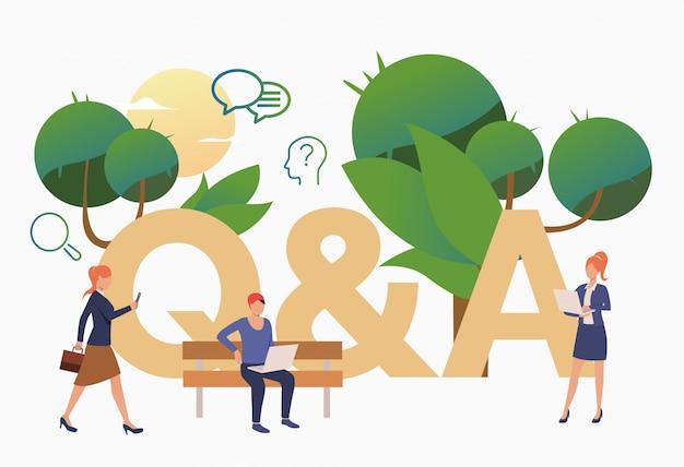Personas obteniendo respuestas para preguntas problemáticas